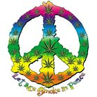 "Southern "" Let Me Smoke in Peace "" Marijuana Pot Weed 50/50 Gildan/Jerzees Tee"