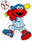 "5.5-8"" ELMO SESAME STREET SPORTS BASEBALL WALL SAFE STICKER BORDER CUT OUT"