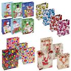 Sets Of Christmas Gift Bags Baubles Balloons Party Coloured Handles 18x23 cm