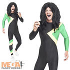 Jamaican Hero Jumpsuit Mens Fancy Dress Sports Uniform Adults Costume Outfit New