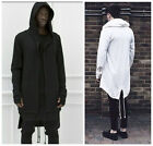 HOT Mens black dark gothic punk hooded jacket coats cardigan outwear long Trench