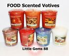 YANKEE CANDLE VOTIVES ** Delicious FOOD Scents ** 15 HOUR CANDLE * YOU PICK