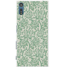 Floral Wallpaper Design Snap-on Hard Back Case Phone Cover for Sony Xperia XZ