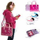 Girls Travel Handbag Storage Case Bag + Kids Headphones for Lenovo YOGA Tab 3 8""
