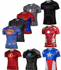 Marvel Super Hero Compression Workout T-shirt Cosplay Cycling Jersey Gym Sport