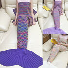 Mermaid Tail Blanket Crochet Adult Cocoon Knit  Lapghan Rugs Sleep Bag Quilt Rug