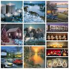 Light-up LED Lighted Christmas River Horses Wall Art Home Decor Canvas Picture