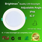 LED DOWNLIGHT KIT 13W DIMMABLE  WARM / NATURE WHITE 120 - 130MM 1150lm IP44 SAA