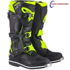 NEW 2017 ALPINESTARS TECH 1 MOTOCROSS BOOTS  BLACK/FLO-YELLOW FREE DELIVERY