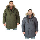 Canada Weather Gear Men's Faux Goose Down Parka Heavy Jacket Coat