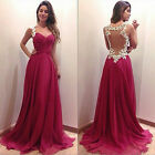 NEW deep V-neck lace dress party dress red wedding dress of choice