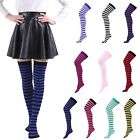 Внешний вид - Women's Plus Size Striped Thigh High Socks Sheer Over The Knee Stockings