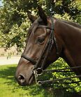 Heritage English Leather Horse or Pony Double Bridle Including Reins