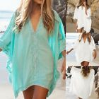 Women's Swimwear Beachwear Bikini Beach Wear Cover Up Kaftan Summer Shirt Dress