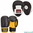 Pro Kick Boxing Set Mesh Curved Gym Training MMA Focus Pads Punch Bag Gloves UFC