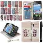 "For Alcatel OneTouch Pixi Glitz A463BG Pixi 3 3.5"" Wallet POUCH Case Cover + Pen"
