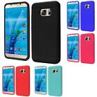 For Samsung Galaxy S7 Rugged Thick Silicone Grip Soft Skin Case Cover