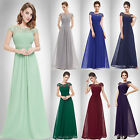 Women's Lace Maxi Evening Gowns Prom Formal Party Dresses 09993 UK Seller