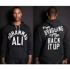 Roots of Fight Ali Brag Quote French Terry Hoodie - Vintage Black
