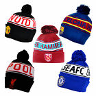 Official Football Club - TEXT Knitted Ski HAT - Wooly/Winter (Cuff/Turn Up)