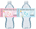 30 BABY FEET BABY SHOWER WATER BOTTLE LABELS GLOSSY