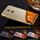 Mirror Aluminum Cover Case For Xiaomi Redmi Note 4 3 Metal Frame Plated Acrylic