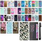 For Sony Xperia X F5121 F5122 PATTERN HARD Protector Back Case Phone Cover + Pen