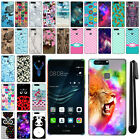 For Huawei P9 EVA-L09 L19 L29 5.2 inch PATTERN HARD Back Case Phone Cover + Pen