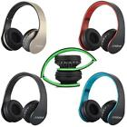 4 in 1 Foldable Wireless Bluetooth Headphone Earphone Headset Mic MP3 TF FM K7V4