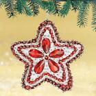 Kit makes 2 Gemstone Star Christmas Ornaments Bead & Sequin Red,Green,Blue NEW
