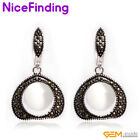 Fashion Drop Dangle Hook Gemstone Earrings For Women Tibetan Silver Jewelry Gift