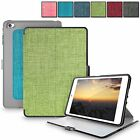 For Apple iPad Mini 4 Ultra Slim Luxury Fabric Leather Case Smart Stand Cover