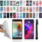For OnePlus 2 Two Various Design TPU SILICONE Soft Protective Case Cover + Pen
