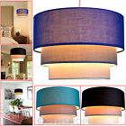 3 Tier Fabric Ceiling Pendant Light Lamp Shade Modern Lampshades Easy Fit Shades