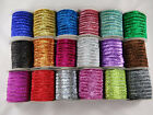 "5 yards 3/8"" 10mm wide METALLIC GLITTER VELVET RIBBON HAIR BOW XMAS PACKAGING"