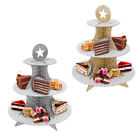 LARGE 3 TIER CAKE STAND PARTY TABLE DISPLAY CUPCAKE GOLD SILVER BIRTHDAY WEDDING