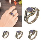 BD 1PC Retro Court Oval Color Change Rhinestone Ring Womens Girls Gift Fashion
