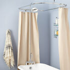 """Rim Mount Gooseneck Clawfoot Tub Shower Kit with S Type Couplers 7"""" Centers"""