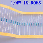 1/4W Metal Film Resistors (ohm)1% ROHS  100pcs
