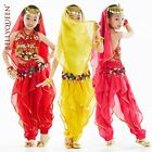 New Children Girl Belly Dance Costume Set Top  Pants 3 Colors Free Shipping