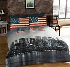 New York NYC Skyline Single Double King Duvet Cover & Pillowcase Bedding Set