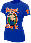 WWE JOHN CENA Respect Earn It OFFICIAL AUTHENTIC WOMENS GIRLIE T-SHIRT