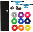 TENSOR Skateboard TRUCKS Kit Magnesium BLUE GRIZZLY BEAR GRIP, BEARINGS, WHEELS