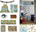 Pirates Ahoy Boys Bedroom Room Wallpaper & Matching Accessories