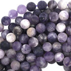 Matte Purple Amethyst Round Beads Gemstone 15.5 Strand 4mm 6mm 8mm 10mm 12mm
