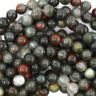 "African Blood Agate Round Beads Gemstone 15"" Strand 4mm 6mm 8mm 10mm 12mm"