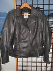 NOS Harley Davidson Womens Legacy Biker Black Leather Jacket 98059-13VW