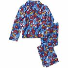 Marvel Spiderman 2 PC Long Sleeve Button Down Pajama Set Boy Size 4/5 6/7 8