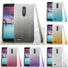 For ZTE Imperial Max Max Duo 4G LTE Glitter Hybrid TPU Gradient Cute Case Cover