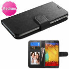 Universal MyJacket Wallet Slim Flap Case Card Slot Pockets Black For Cell Phones